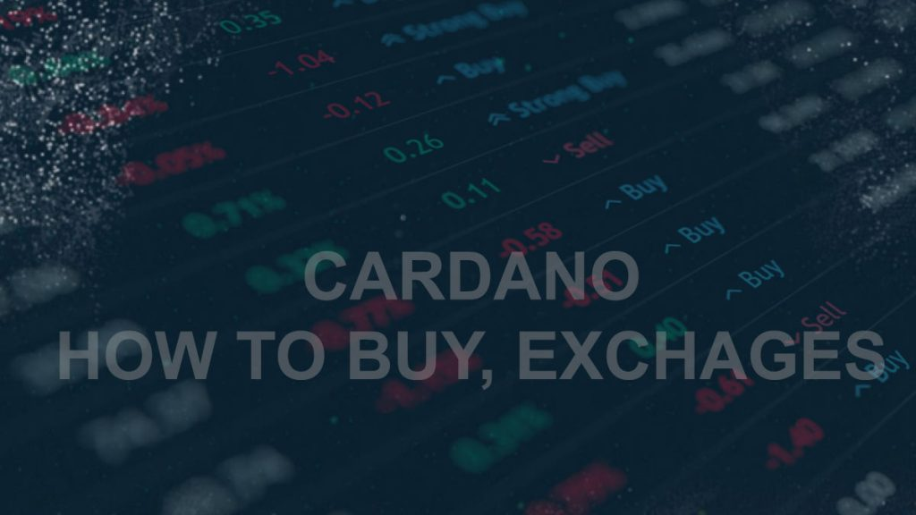 How to buy ADA (Cardano)