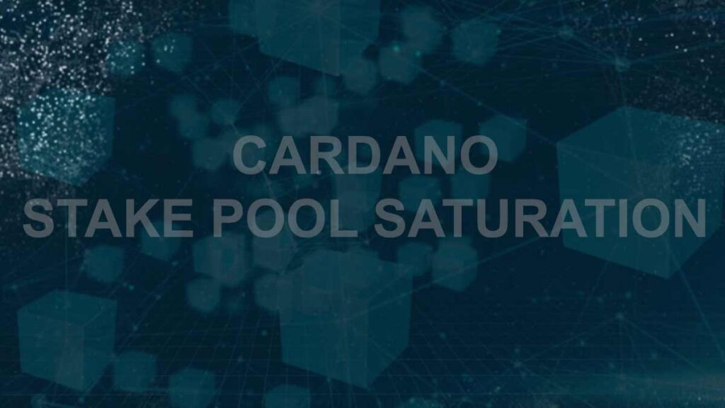 What is saturation level of Cardano stake pools?